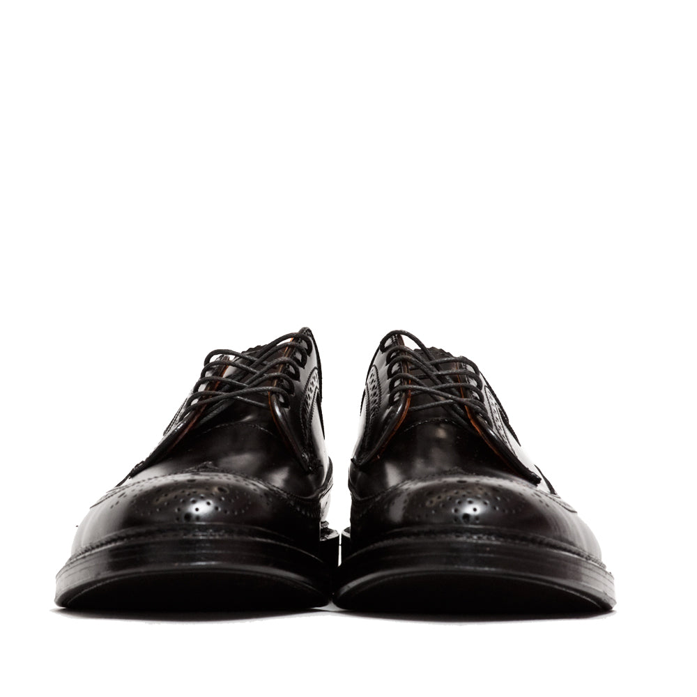 Alden Black Cordovan Longwing Blucher at shoplostfound, front