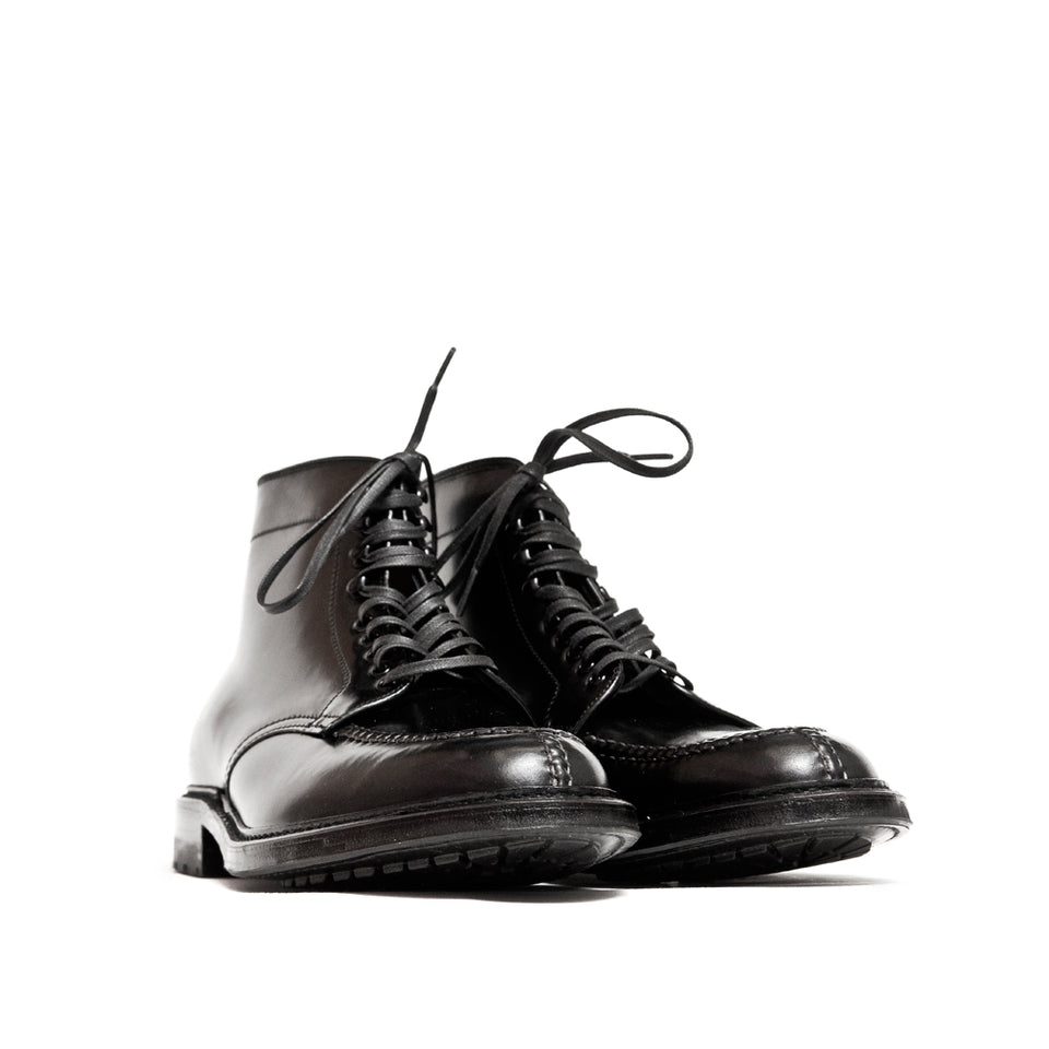 Alden Black Cordovan Tanker Boot with Commando Sole at shoplostfound, 45