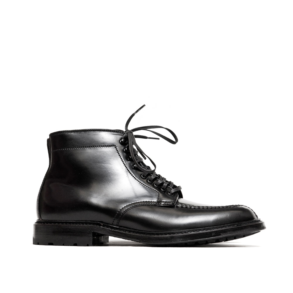 Alden Black Cordovan Tanker Boot with Commando Sole at shoplostfound, side