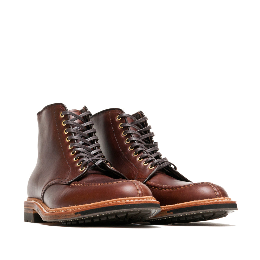 Alden Brown Chromexcel Norwegian Front Blucher Boot With Commando Sole at shoplostfound, 45