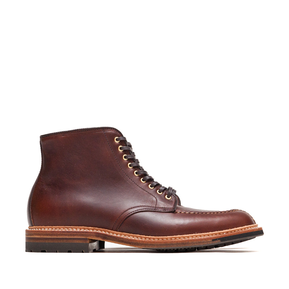 Alden Brown Chromexcel Norwegian Front Blucher Boot With Commando Sole at shoplostfound, side