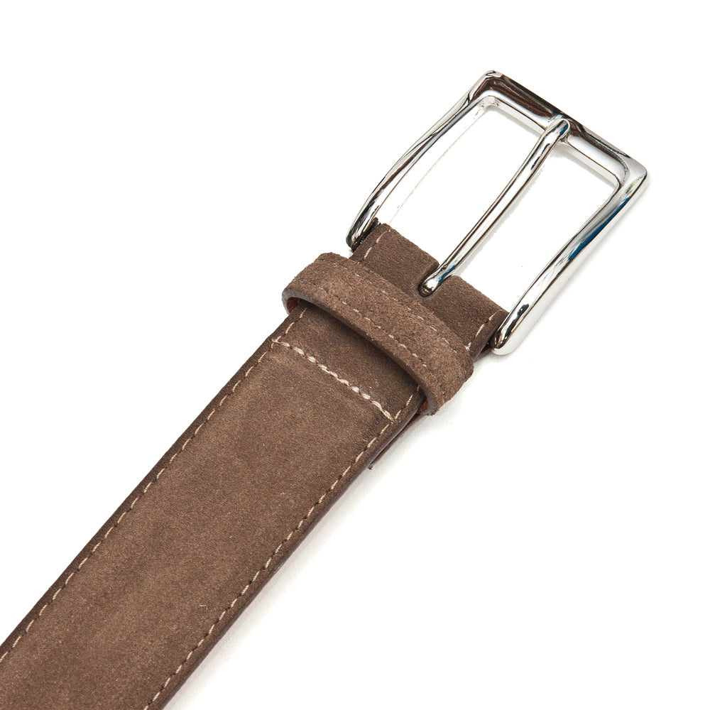 Alden Brown Suede Belt at shoplostfound, buckle