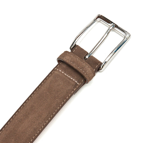 Alden Brown Suede Belt at shoplostfound, front