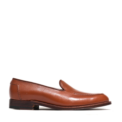 Alden Cognac Lady Calf Slip On With Mocc Stitch at shoplostfound, side