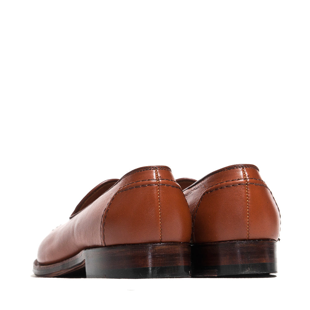 Alden Cognac Lady Calf Slip On With Mocc Stitch at shoplostfound, back