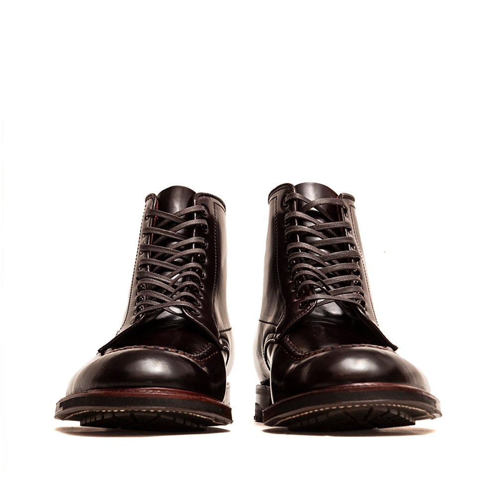 Alden Colour 8 Cordovan Indy Boot with Commando Sole at shoplostfound, front