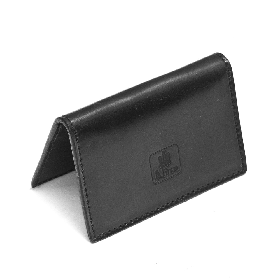 Alden Folding Business Card Case Black Shell Cordovan at shoplostfound, up