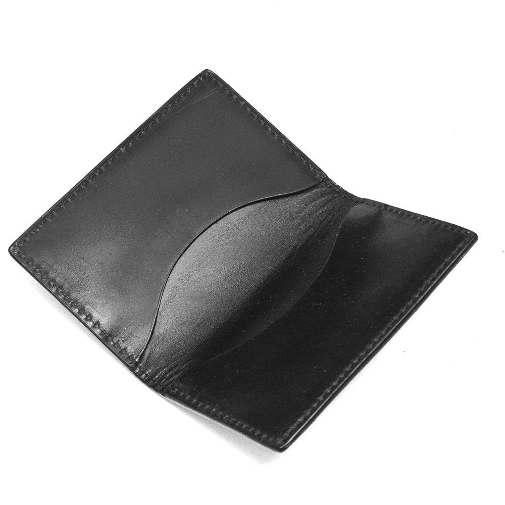 Alden Folding Business Card Case Black Shell Cordovan at shoplostfound, flat