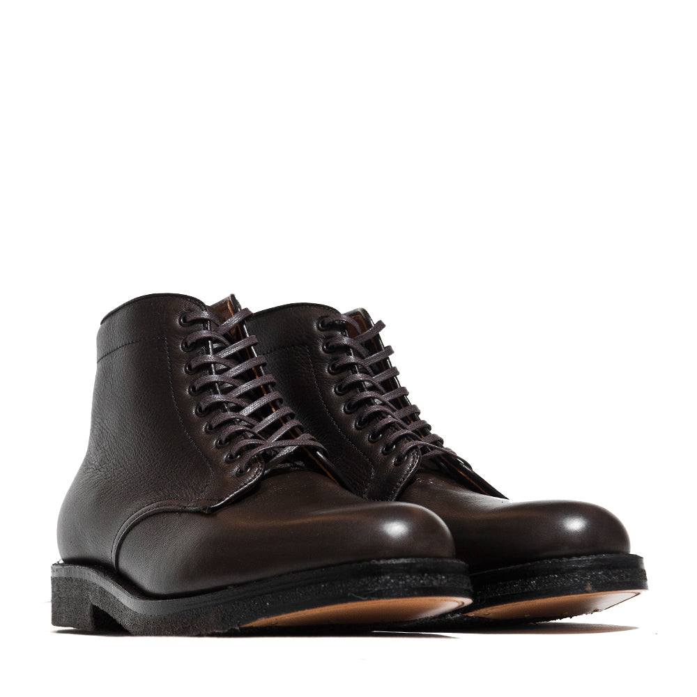 Alden Loden Calf Cordovan Plain Toe Boot with Crepe Sole at shoplostfound, 45