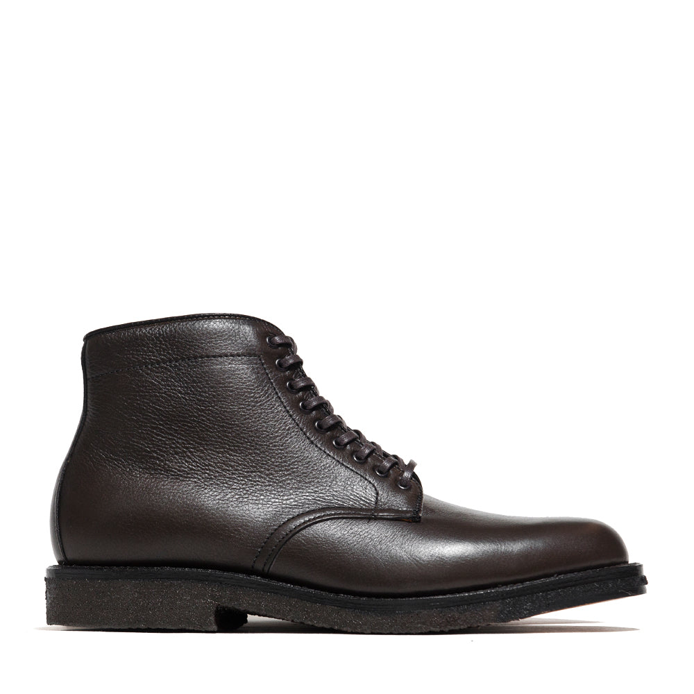 Alden Loden Calf Cordovan Plain Toe Boot with Crepe Sole at shoplostfound, side