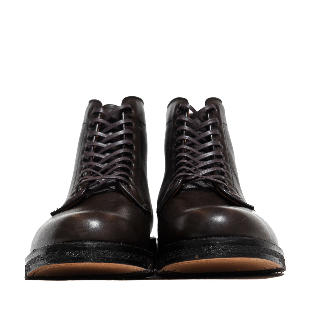 Alden Loden Calf Cordovan Plain Toe Boot with Crepe Sole at shoplostfound, front