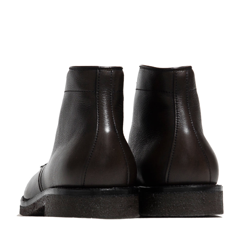 Alden Loden Calf Cordovan Plain Toe Boot with Crepe Sole at shoplostfound, back