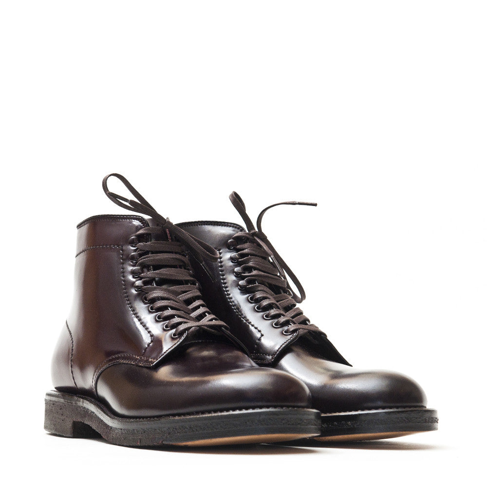Alden Colour 8 Cordovan Plain Toe Boot with Crepe Sole at shoplostfound in Toronto, product shot
