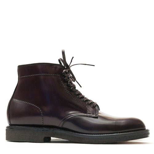 Alden Colour 8 Cordovan Plain Toe Boot with Crepe Sole at shoplostfound in Toronto, profile