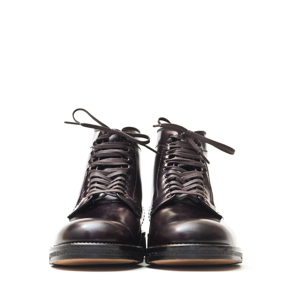 Alden Colour 8 Cordovan Plain Toe Boot with Crepe Sole at shoplostfound in Toronto, front