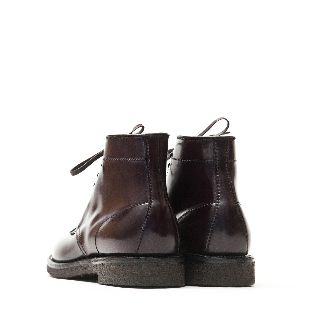 Alden Colour 8 Cordovan Plain Toe Boot with Crepe Sole at shoplostfound in Toronto, back