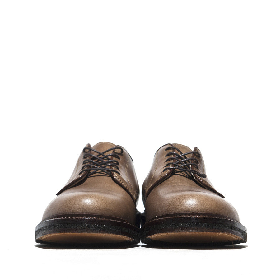 Alden Dover Natural Chromexcel Plantation Crepe Sole at shoplostfound in Toronto, front