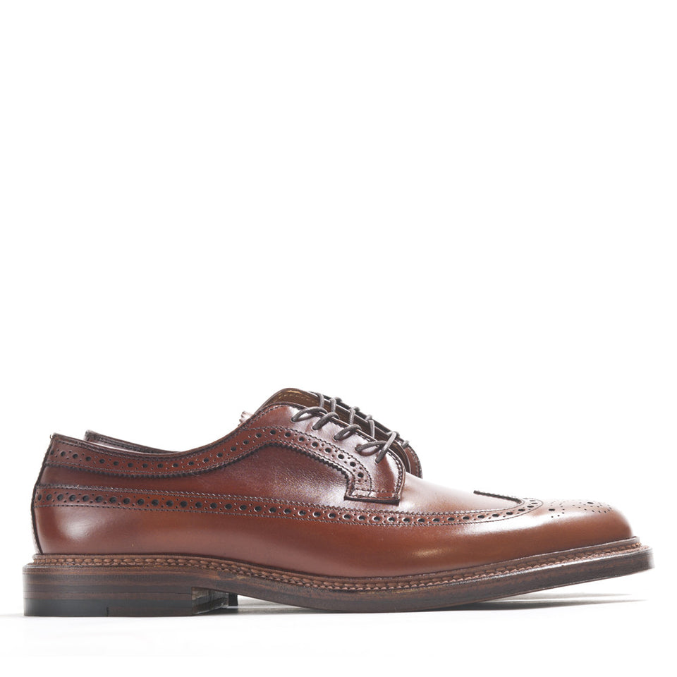 Alden Longwing Blucher 979 in Burnished Tan Calf at shoplostfound in Toronto, profile