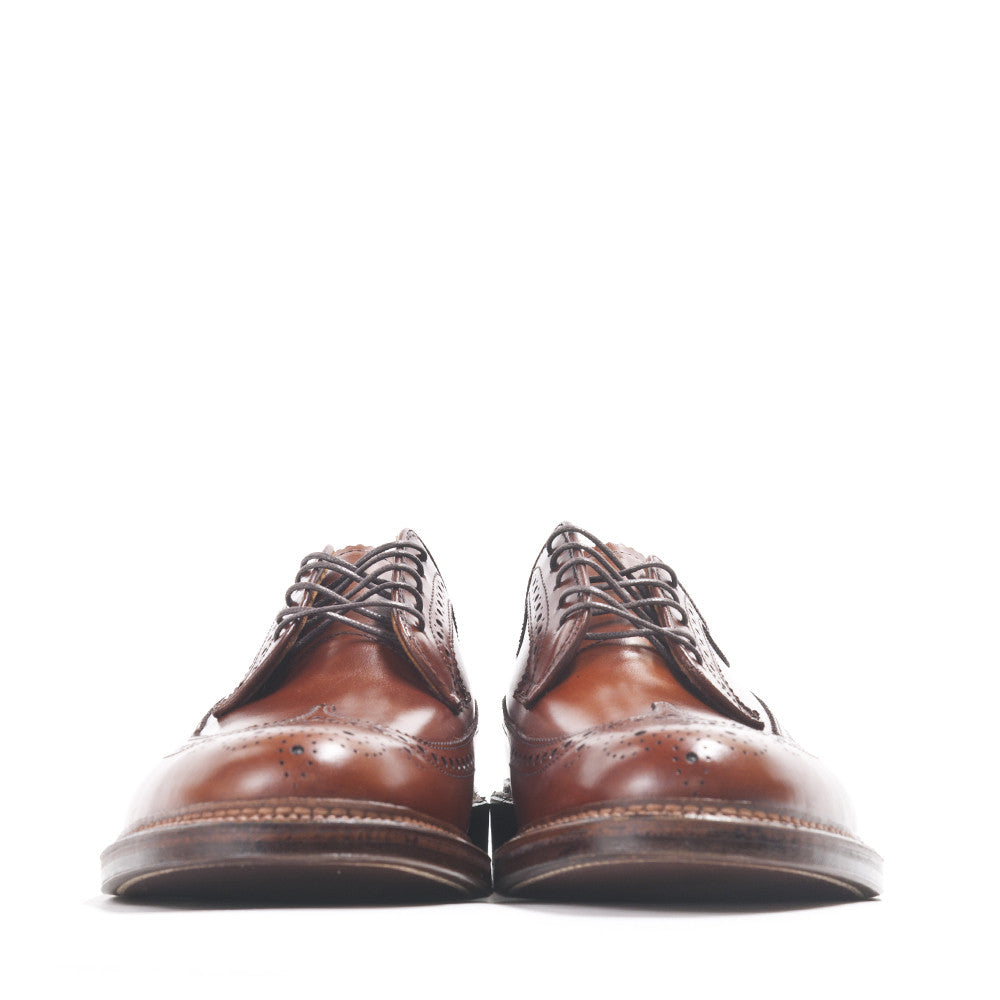 Alden Longwing Blucher 979 in Burnished Tan Calf at shoplostfound in Toronto, front