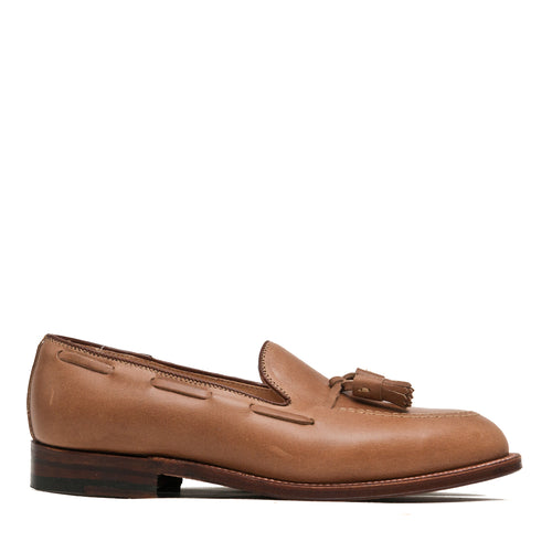 Alden Natural Chromexcel Tassel Loafer at shoplostfound, side