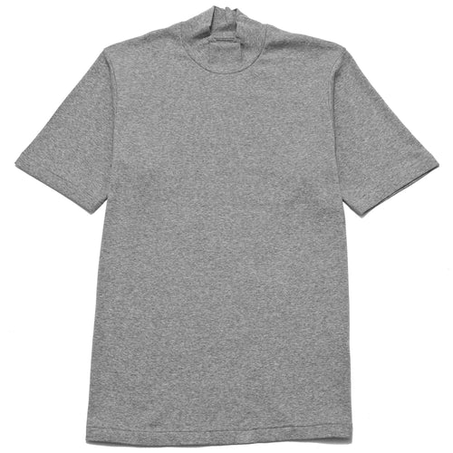Anatomica Mock Neck Tee SS Grey at shoplostfound, front