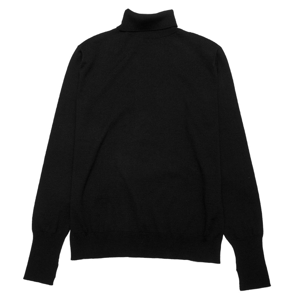 Andersen-Andersen Light Turtleneck Black at shoplostfound, front