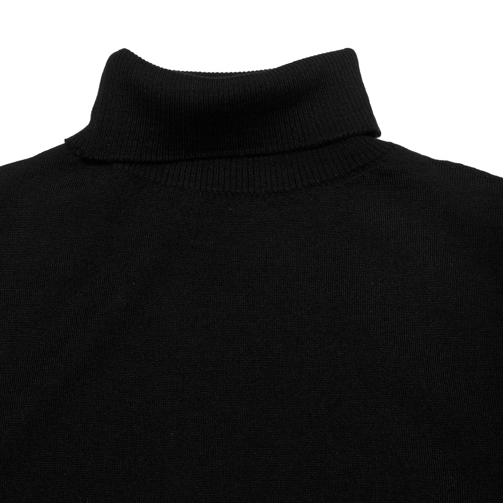 Andersen-Andersen Light Turtleneck Black at shoplostfound, neck
