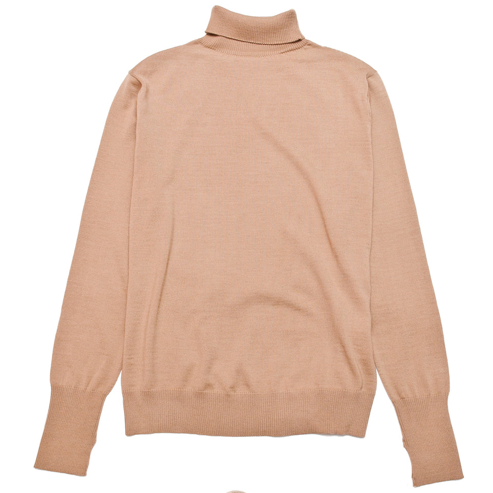 Andersen-Andersen Light Turtleneck Camel at shoplostfound, front