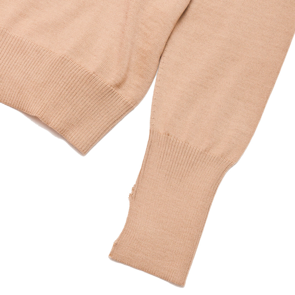 Andersen-Andersen Light Turtleneck Camel at shoplostfound, cuff
