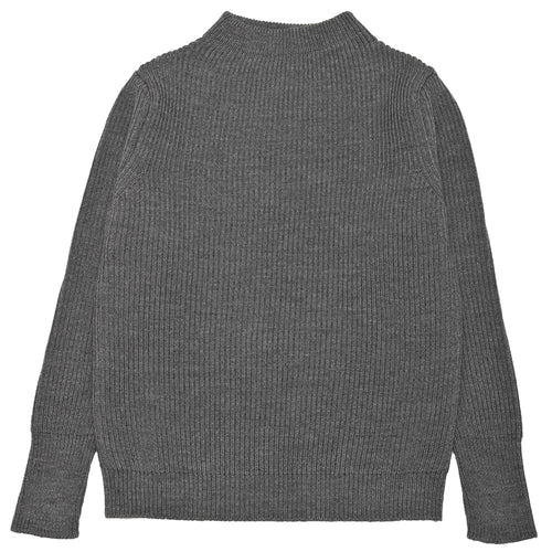 Andersen-Andersen Navy Crewneck Grey at shoplostfound, front