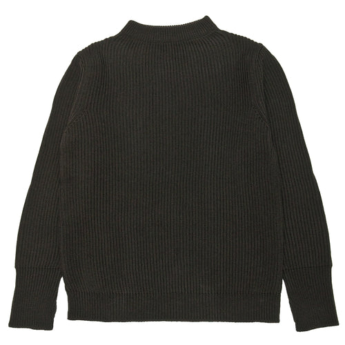 Andersen-Andersen Navy Crewneck Hunting Green at shoplostfound, front