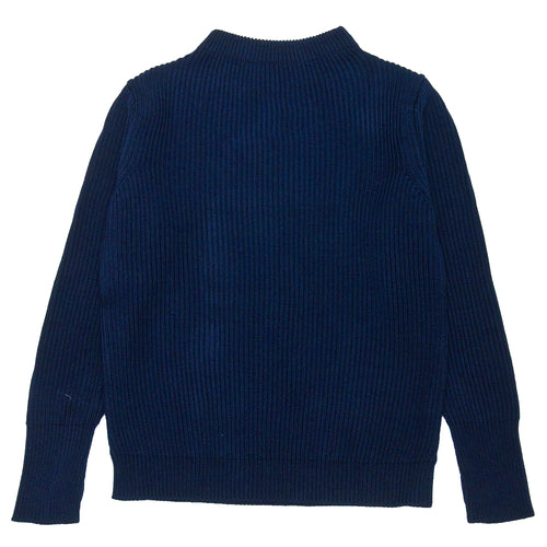 Andersen-Andersen Navy Crewneck Royal Blue at shoplostfound, front