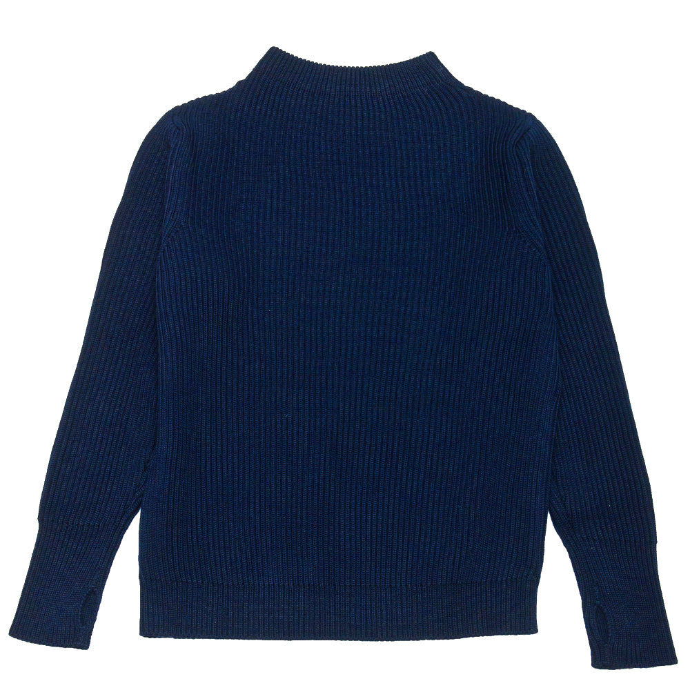Andersen-Andersen Navy Crewneck Royal Blue at shoplostfound, back