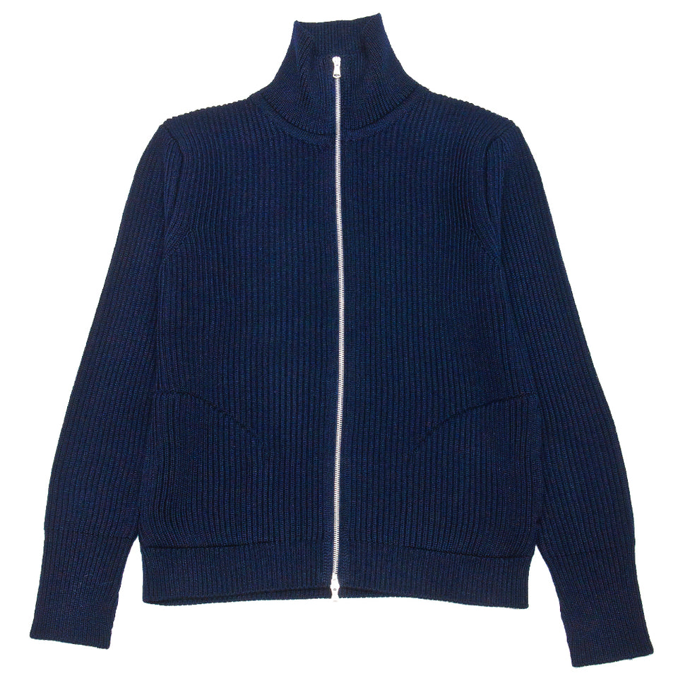 Andersen-Andersen Navy Full-Zip with Pockets Royal Blue at shoplostfound, front