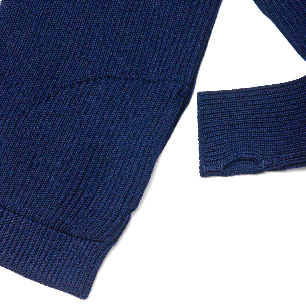 Andersen-Andersen Navy Full-Zip with Pockets Royal Blue at shoplostfound, cuff