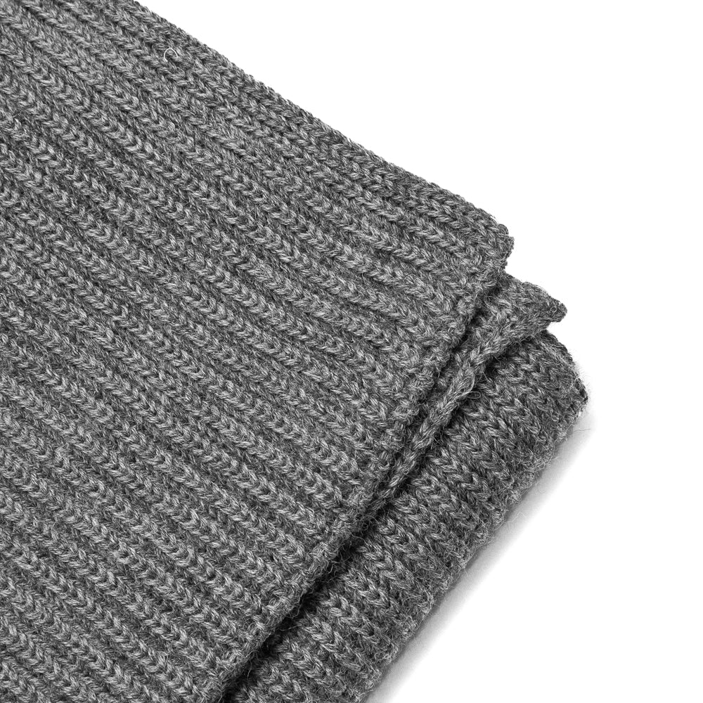 Andersen-Andersen Wide Scarf Grey at shoplostfound, detail