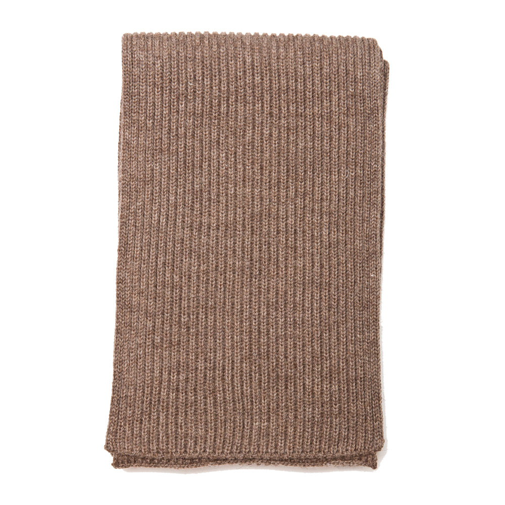 Andersen-Andersen Wide Scarf Natural Taupe at shoplostfound, front