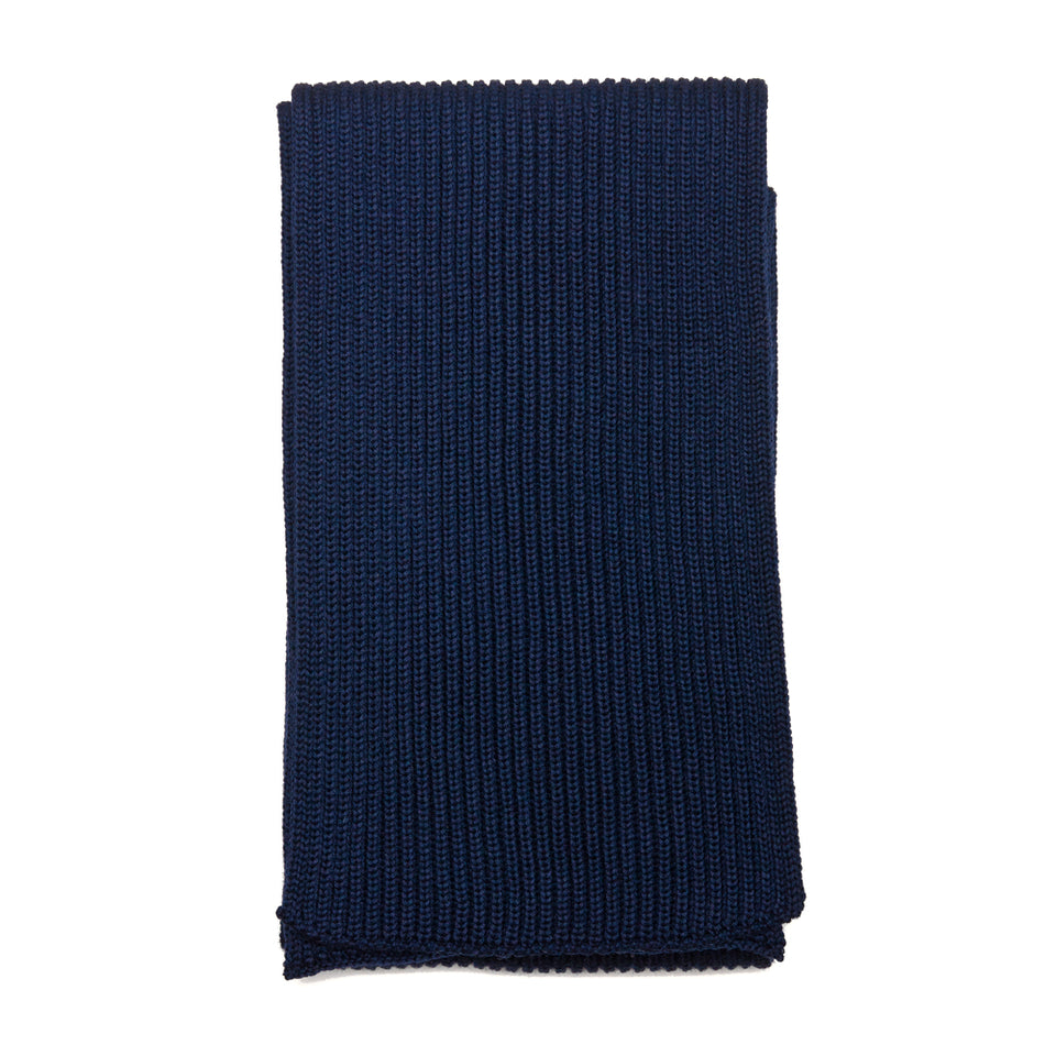 Andersen-Andersen Wide Scarf Royal Blue at shoplostfound, front