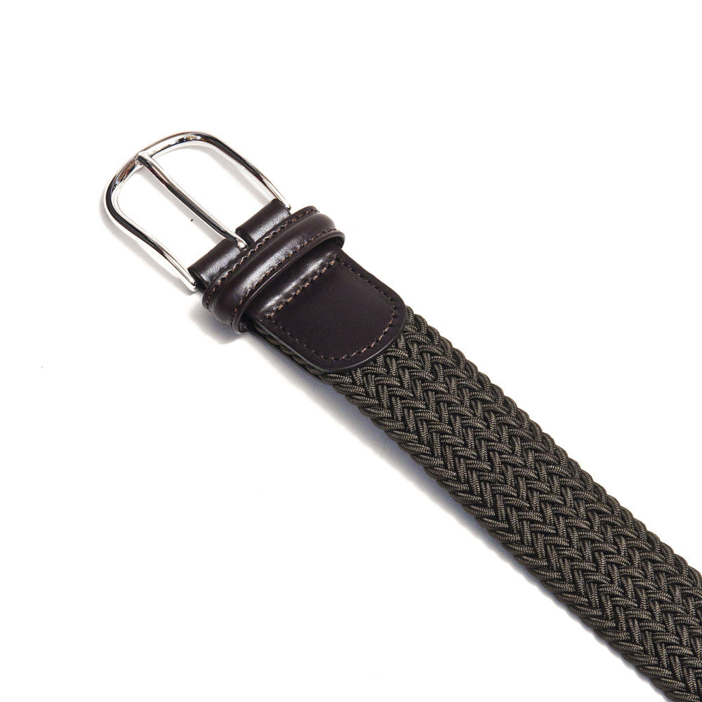 Anderson's Woven Textile Belt Olive at shoplostfound in Toronto, buckle
