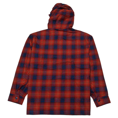 Arpenteur Toast Hooded Sweater Red/Blue/Sand at shoplostfound, front