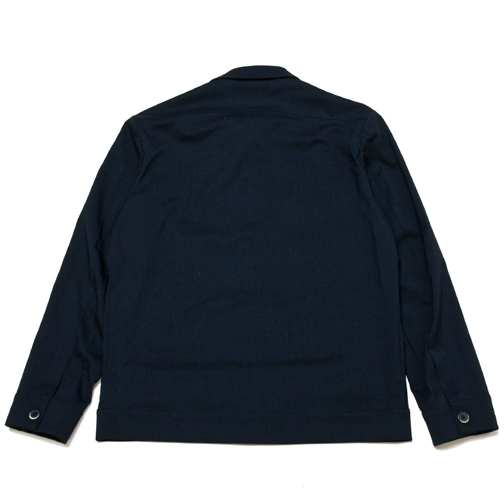 Barena Venezia Soraman Overshirt Navy at shoplostfound, back
