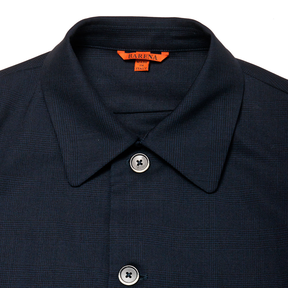Barena Venezia Soraman Overshirt Navy at shoplostfound, neck