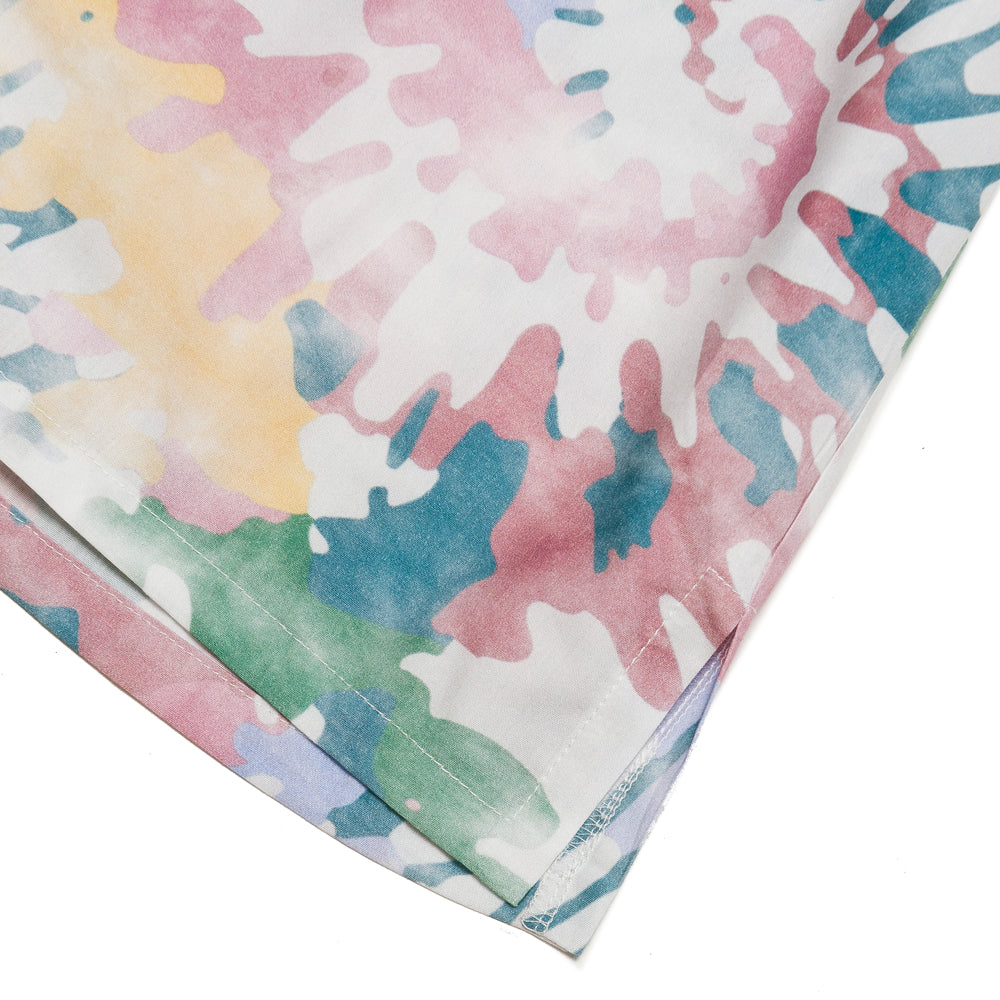 Bather Acid Tie Dye Camp Shirt at shoplostfound, detail