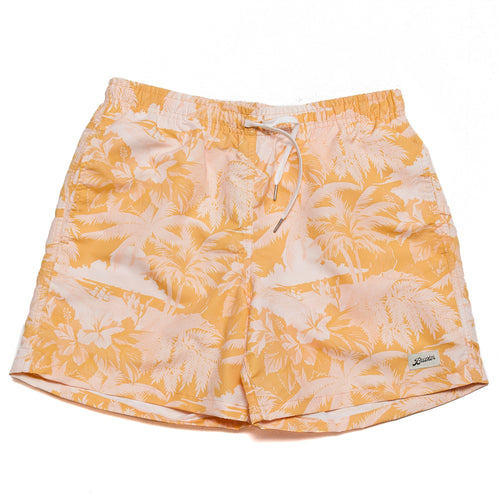 Bather Yellow Aloha Swim Trunk at shoplostfound, fron