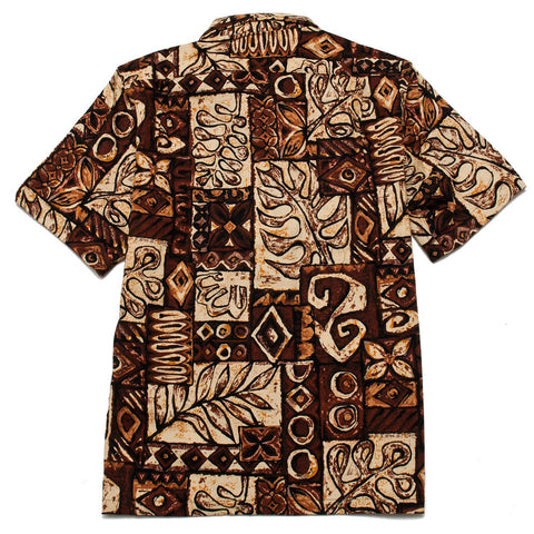 Battenwear Five Pocket Island Shirt Brown Print shoplostfound front