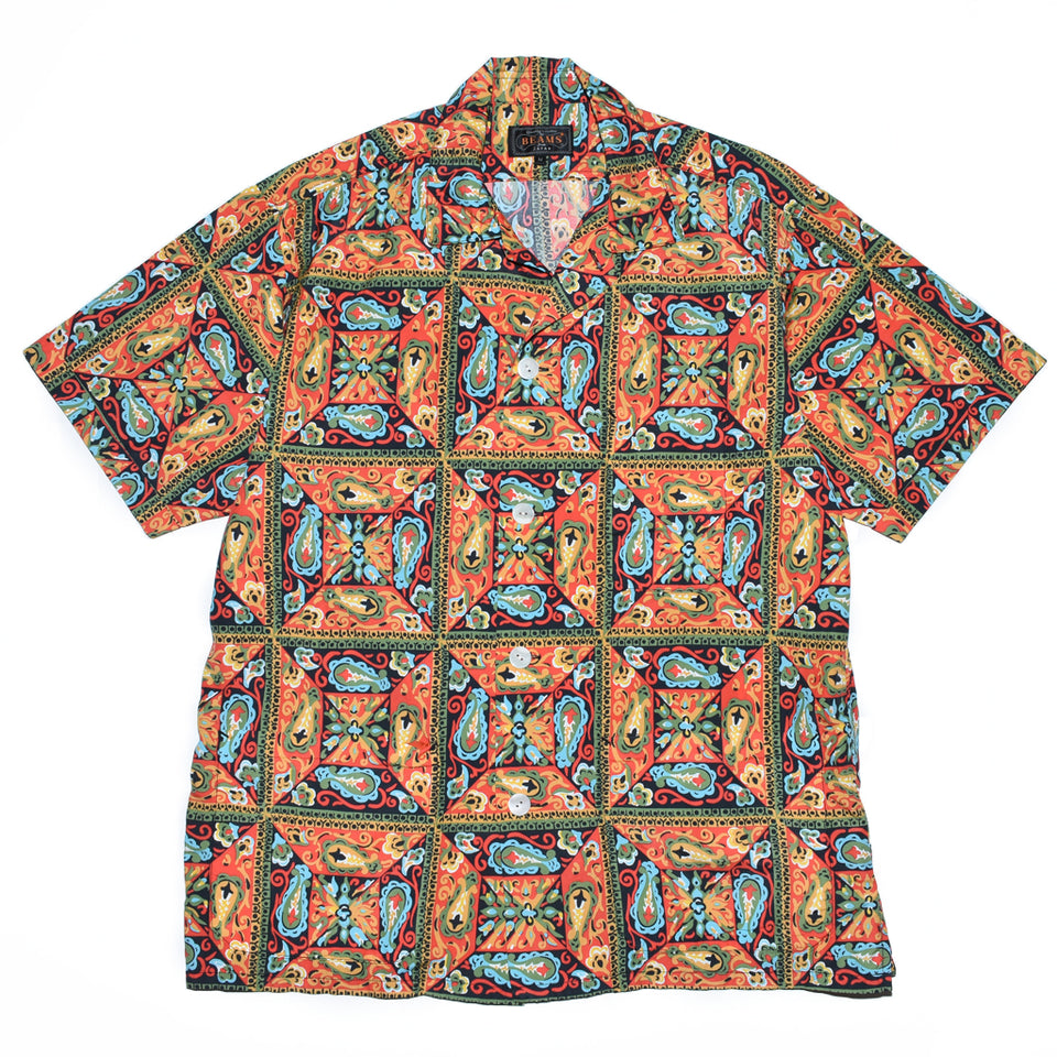 beams-plus-beach-jacket-print-batik-orange-front