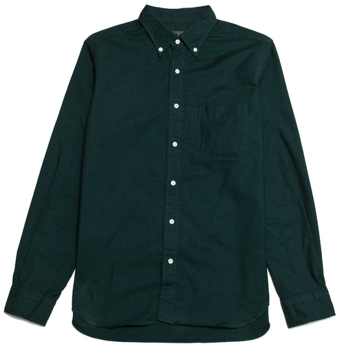 Beams Plus Colour Oxford Button Down Shirt Green shoplostfound,