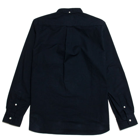 Beams Plus Colour Oxford Button Down Shirt Navy shoplostfound, front