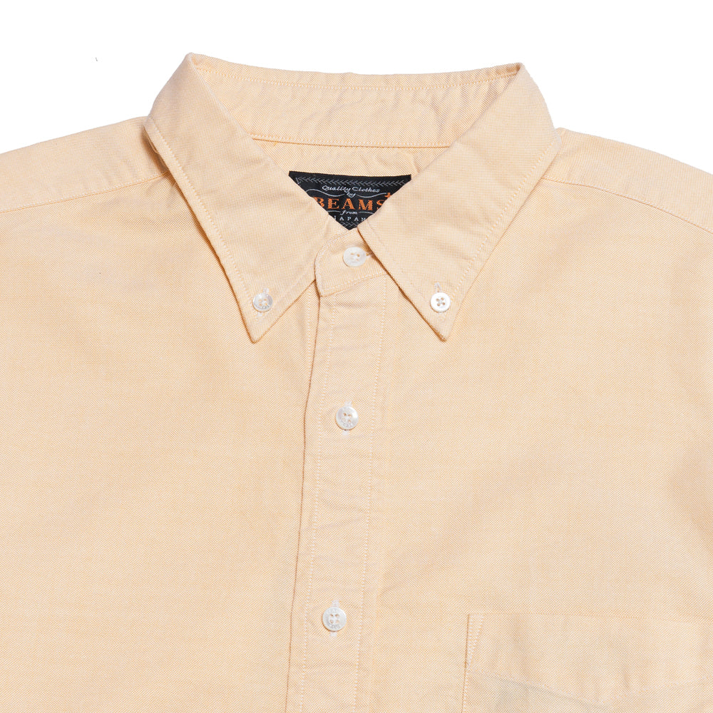 Beams Plus Oxford Button Down Yellow shoplostfound, neck
