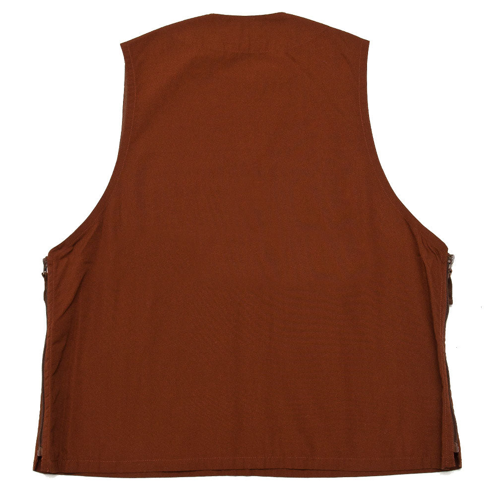 Beams Plus Pullover Utility Vest Brown shoplostfound back